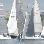Plym Yacht Club PPSA Regatta 2017 Cruiser Fleet Race Start Photo of yachts just after the start of a race in Plymouth Sound